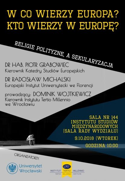 image: Zapraszamy do udziału w debacie współorganizowanej przez Katedrę Studiów Eu...